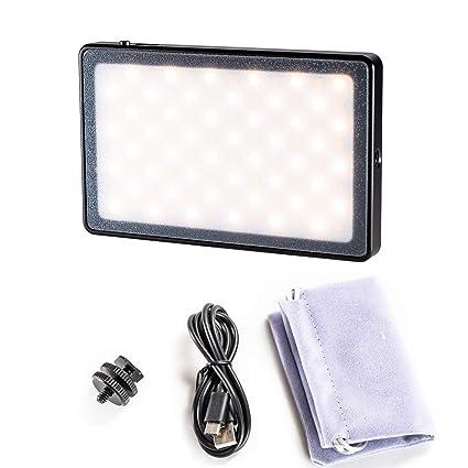 Nicama NC-L5 LED Mini Luz Recargable en cámara luz de vídeo para ...