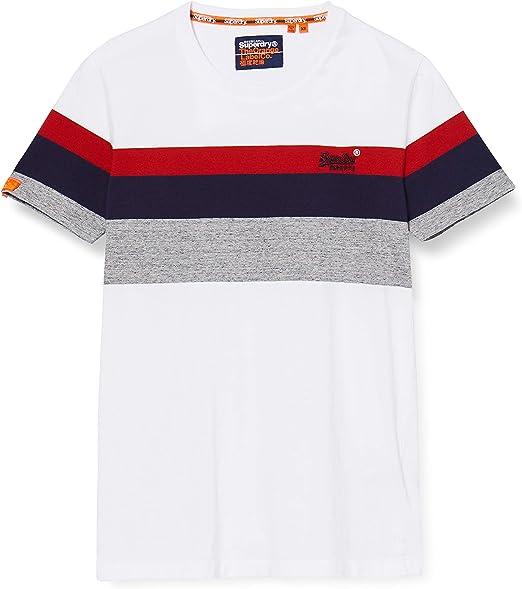 TALLA S. Superdry OL Classic Yd Stripe tee Camiseta para Hombre