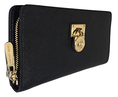 ba9ac1c81598c2 Amazon.com: Michael Kors Hamilton Traveler LG Zip Around Wallet ...