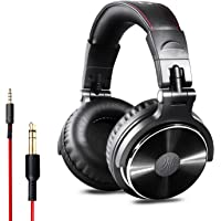 OneOdio Over Ear Headphones Closed Back Studio DJ Headphones for Monitoring and Mixing, Adapter Free, Newest 50mm Neodymium Drivers, Wired Headsets(Glossy Finish) 2019 Upgraded