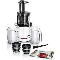 Bosch MESM500W VitaExtract Extractor de jugos, 150 W, 2 filtros, con tecnología de prensado lento, color blanco