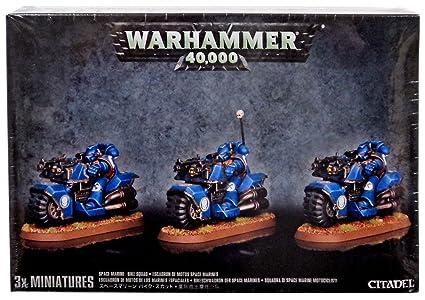 48-11 GW Warhammer 40K Tabletop-Miniaturen & -Geländebau-Artikel BIKESCHWADRON DER SPACE MARINES BIKE SQUAD