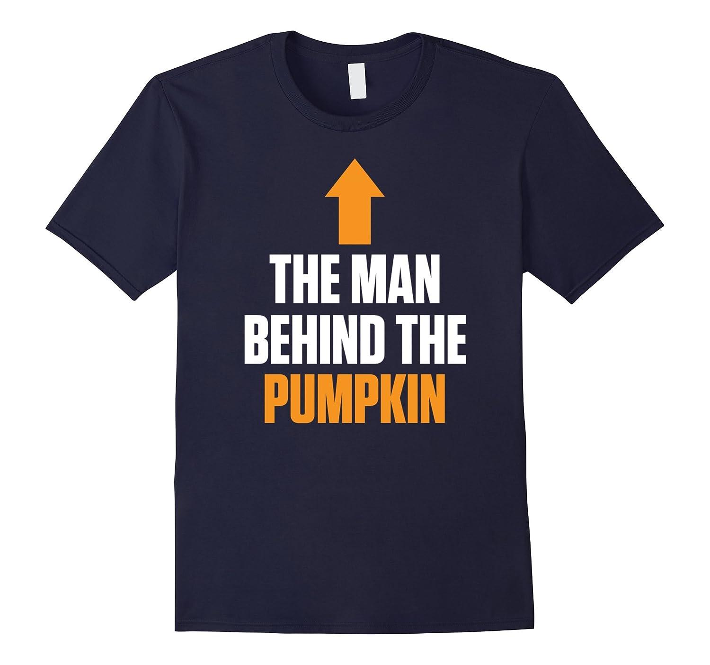 Mens The Man Behind The Pumpkin Expecting Baby Halloween T-Shirt-FL