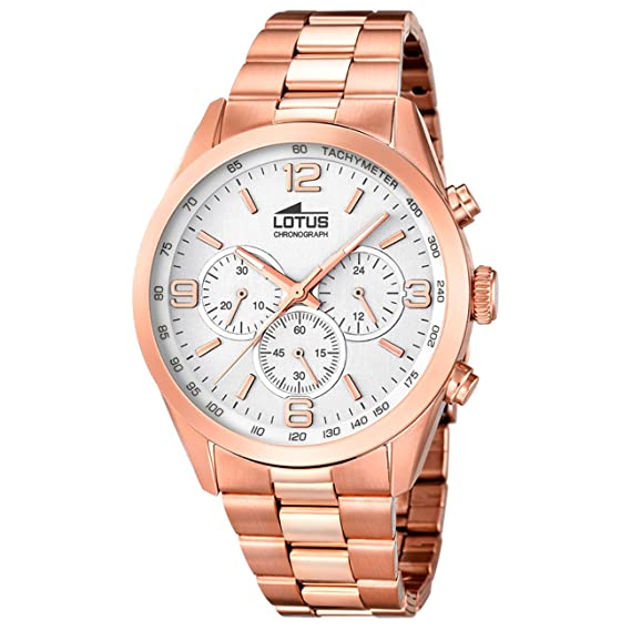 Amazon.com: Mens Watch - Lotus - Pink Gold Platted - Chronograph - Tachymeter - 18154/1: Watches