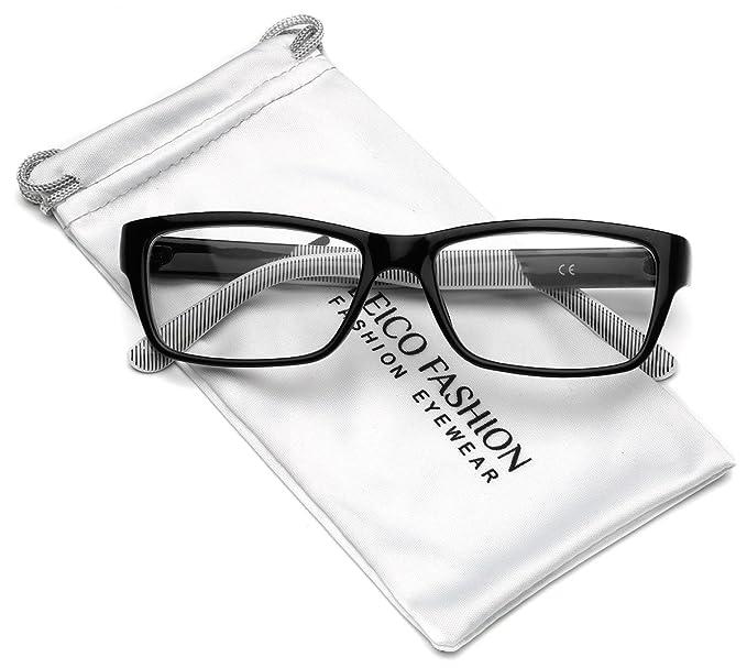 Amazon.com: Gafas rectangulares transparentes (tamaño ...