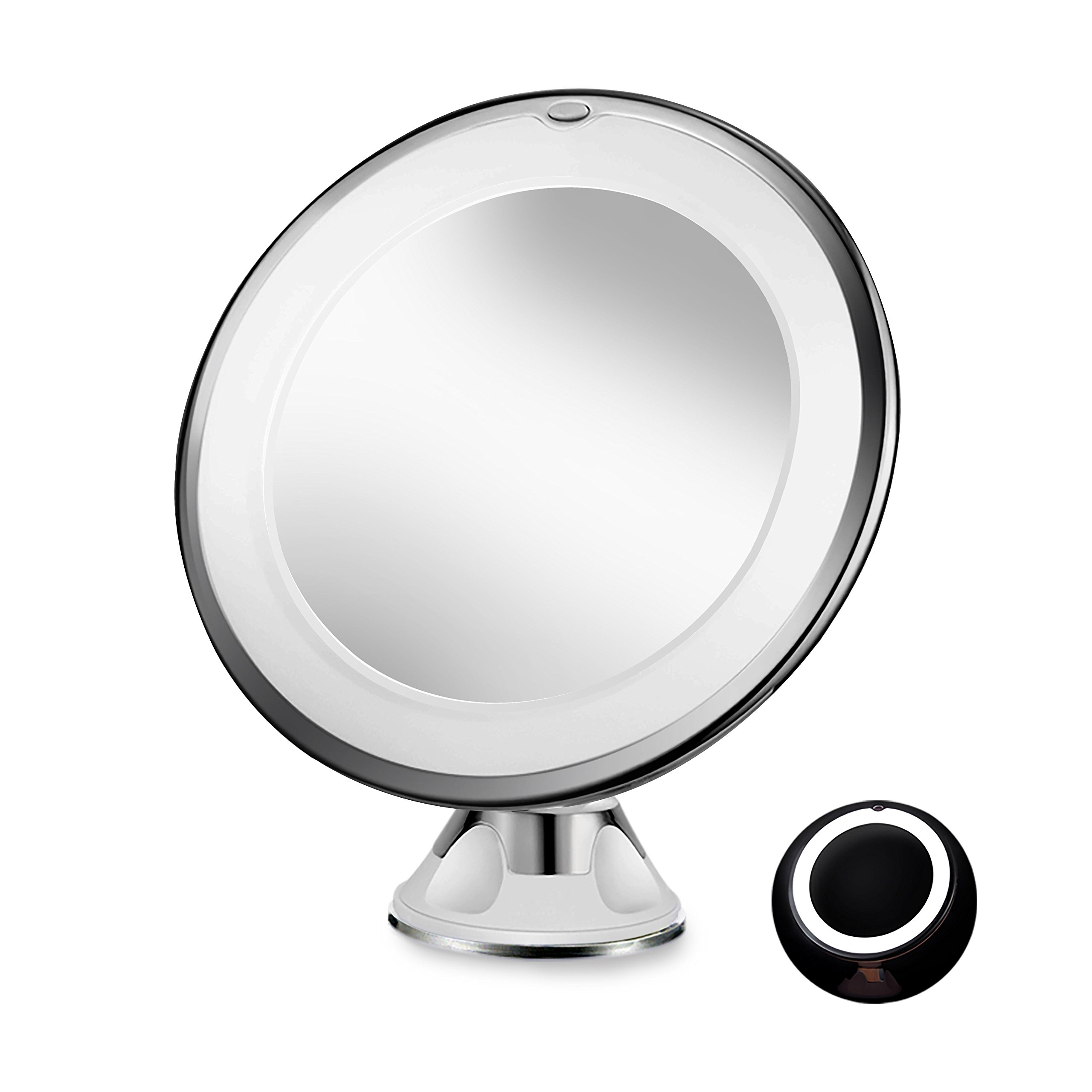 Fogless Shower Mirror with Built-In Razor Holder   360° Rotation ...