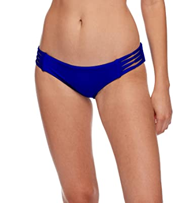 c03a831fa6d286 Body Glove Women's Smoothies Ruby Solid Bikini Bottom Swimsuit, Abyss,  X-Small