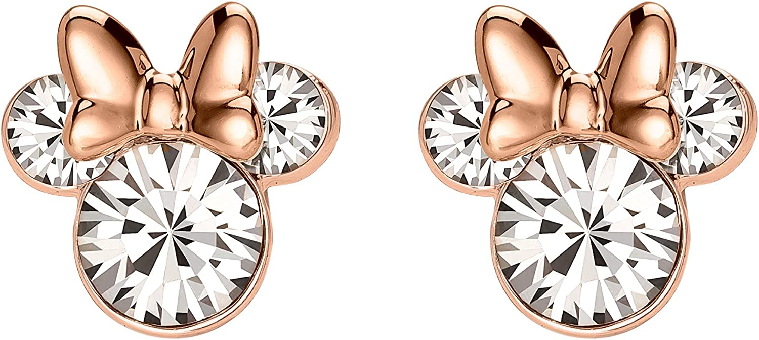 Details about  /Minnie Mouse Bow Stud Earrings For Women/'s 14K White Gold Over Sterling Silver