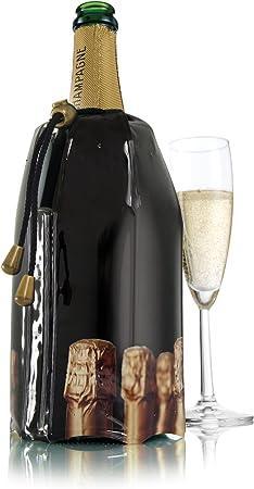 Compra Vacu Vin 3885460-Enfriador, diseño Tapones Enfriador rápido para Botellas de Cava, plástico y Gel, Negro, cm en Amazon.es