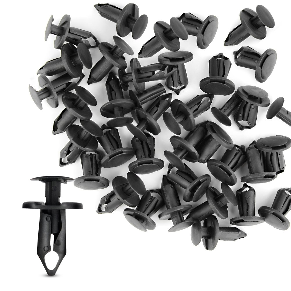 GOOACC Nylon Bumper Fastener Rivet Clips GM 21030249 Ford N807389S Automotive Furniture Assembly Expansion Screws Kit Auto Body Clips 8mm 100PCS