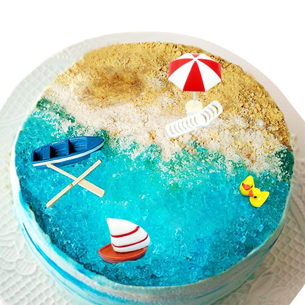 Incredible Golden Deer 6 Pcs Birthday Cake Toppers Of Beach Sea Coast Cake Funny Birthday Cards Online Necthendildamsfinfo
