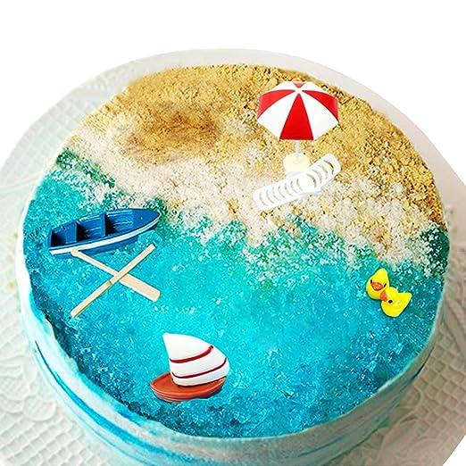 Golden Deer - Juego de 6 adornos para tarta de cumpleaños de ...
