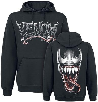 Venom (Marvel) Furious Face Sudadera con Capucha Negro: Amazon.es: Ropa y accesorios