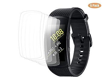 [6-Pack] Protector de pantalla Samsung Gear FIT2 Pro, vicara para Clear HD anti-arañazos anti-Bubble película para Samsung Gear FIT2 Fit 2 Pro sm-r365