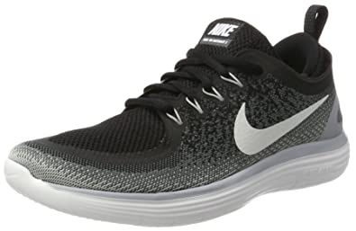 Nike Women s Free Rn Distance 2 Black White Cool Grey Running Shoe Size 5 a5fda6479a63e