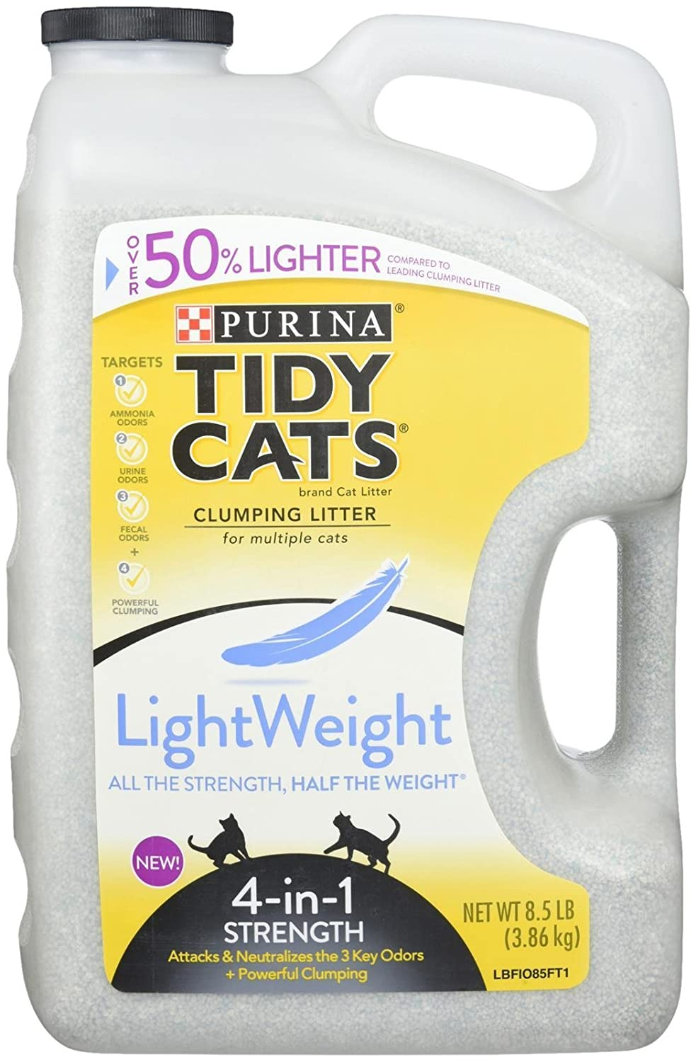 Purina Tidy Cats Lightweight 4 in 1 Strength Clumping Dust Free Litters