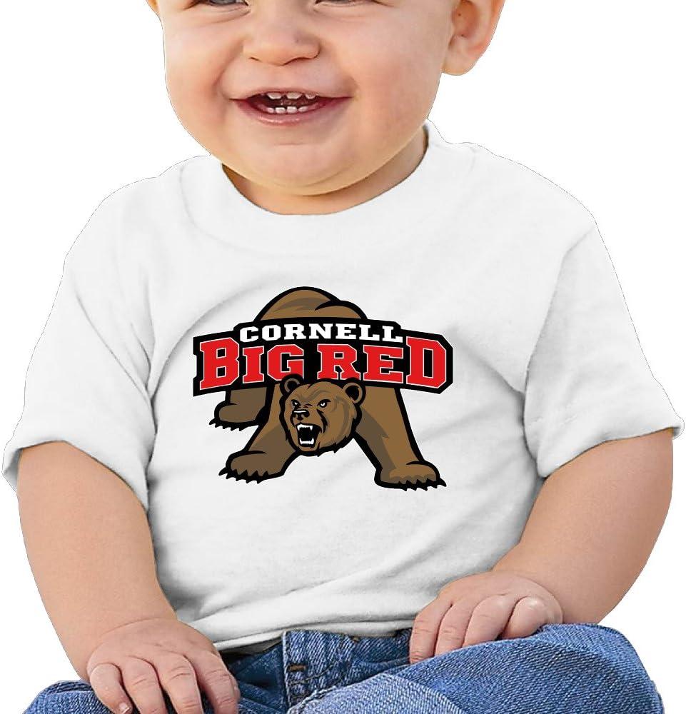 UFBDJF20 Cor Nell University Big Red Bear Kid Tshirts White