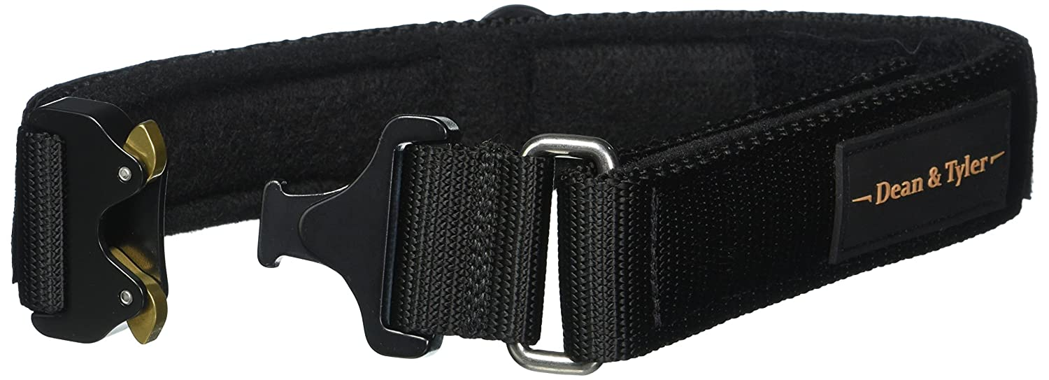 Dean & Tyler 18 to 21-Inch Strong Nylon Cobra Patch Collar with Felt Padding, Italian Patches, Small, Black