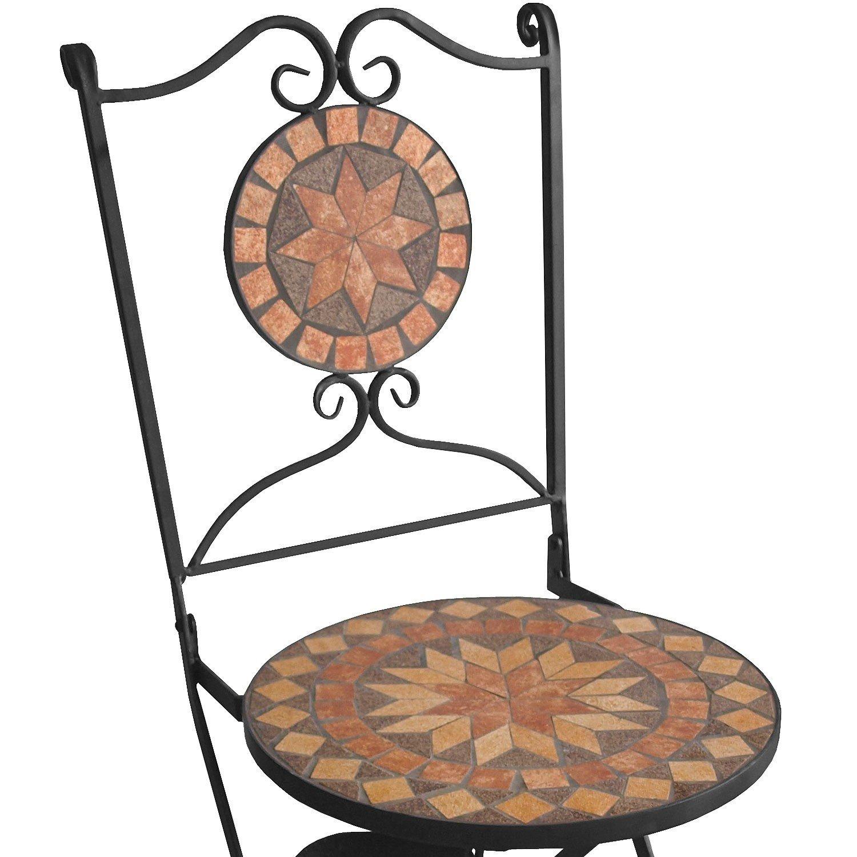 Gartenmöbel Zubehör Multistore 2002 2er Set Mosaikstühle
