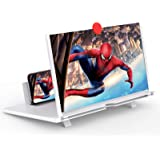 """12"""" Screen Magnifier –3D HD Mobile Phone Magnifier Projector Screen for Movies, Videos, and Gaming–Foldable Phone Stand with"""