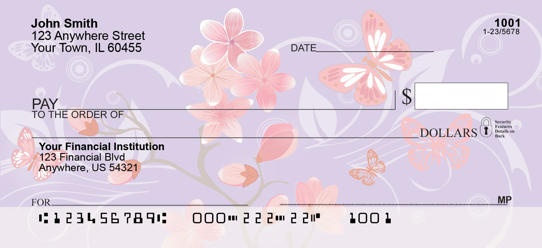 Cherry Blossoms Personal Checks (1 Box Singles)