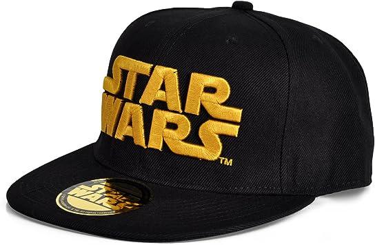 Star Wars - gorra con el logotipo dorado - gorra de visera plana ...