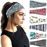PLOVZ 6 Pack Women's Yoga Running Headbands Sports Workout Hair Bands