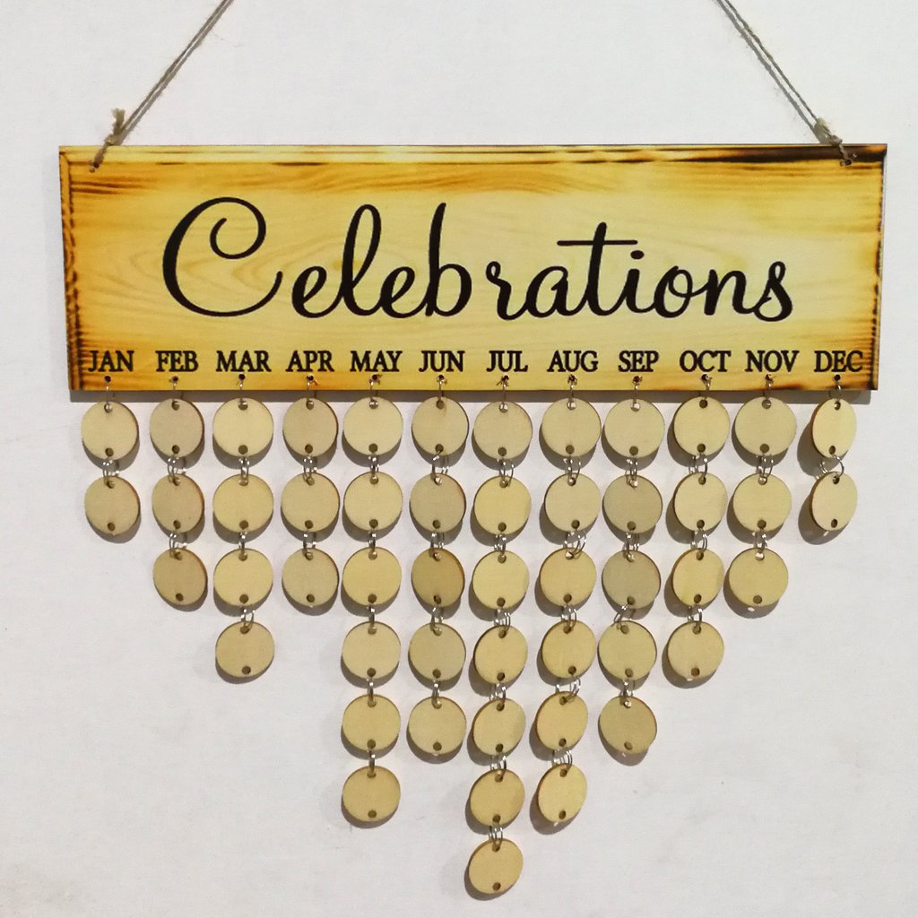 Amazon.com: Ivinxy Wooden Family Frends Birthday Celebration ...