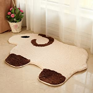 Home-organizer Tech Microfiber Soft Bedroom and Bathroom Brown Sheep Animals Accent Rug Pad Home Decoration Floor Fun Creative Rug and Carpets, 24-Inch by 35-Inch