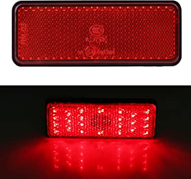 Motorcycle Tail Brake Light Universal Motorcycle Scooter Moped Rectangle LED Reflector Tail Brake Light Stop Lamp Red