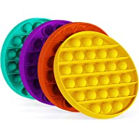 Push Pop Pop Bubble Sensory Fidget Toy, Pop It Figit Toy Fidget Toys Autism Special Needs Stress Reliever (4 Color Round…