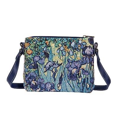 0d18b9af32a6 Signare Tapestry Vincent Van Gogh Irises Fashion Crossbody Shoulder Bag  Purse (XB02-ART-