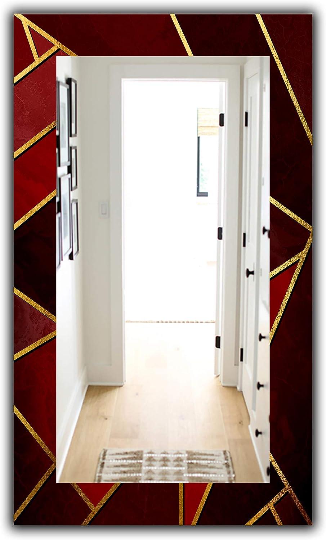 Designart Mir19156 F 28 48 Capital Gold Honeycomb 12 Wall Mirror 27 5 X 47 4 Red Amazon Ca Home Kitchen