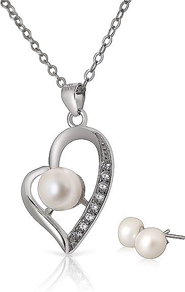 Deseo perla al cumpleaños con collar en una caja de regalo joyas perla cadena