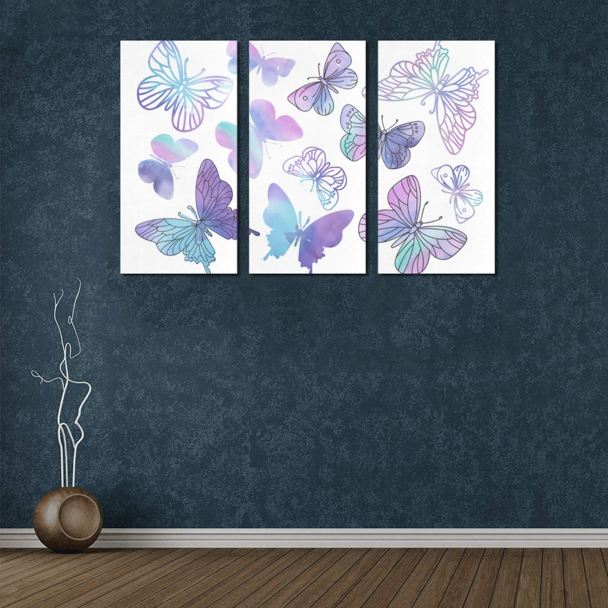 Kitchen Table Linens 3 Panel Cute Canvas Prints Clipart Purple Butterfly Color Girl Canvas Wall Art Canvas And Prints Mens Wall Painting For Home Living Room Bedroom Bathroom Wall Decor Posters