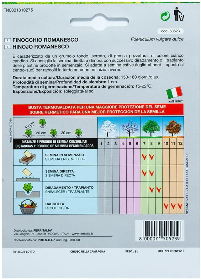 Semillas Hinojo (5 Gramos): Amazon.es: Jardín