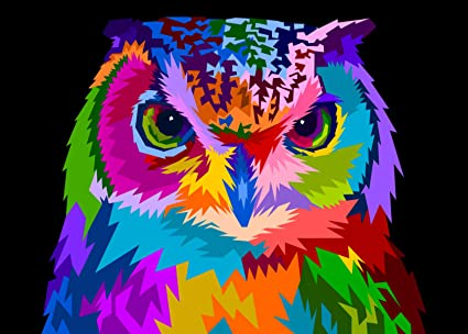 Animal Paint by Numbers on canvas Oil Painting Kits for Adults Kids Beginners