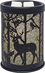 EQUSUPRO Metal Wax Melt Warmer Electric Wax Burner Melter Fragrance Warmer for Home Office Bedroom Living Room Gifts & Decor (Deer)