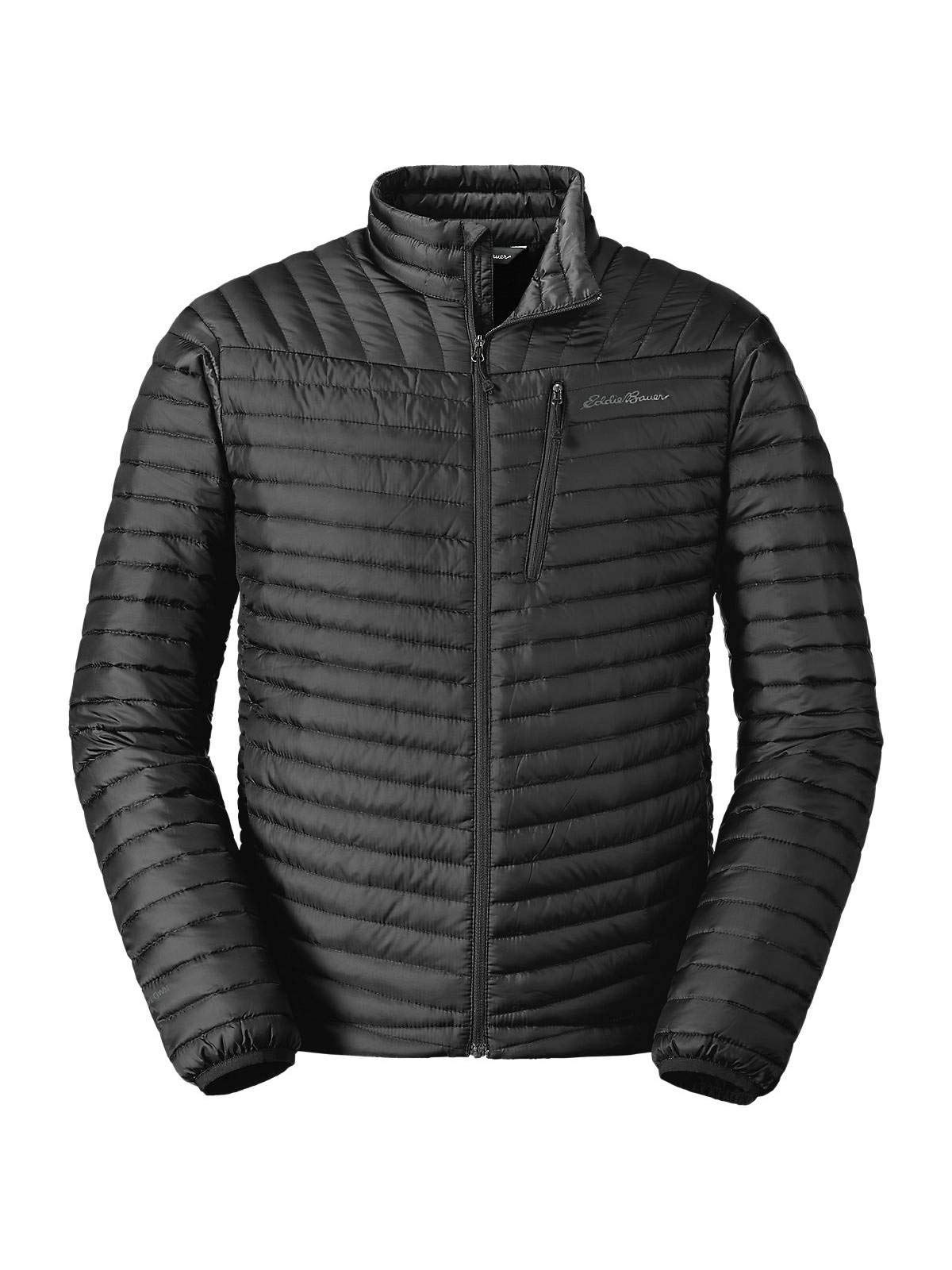 Eddie Bauer Men's MicroTherm 2.0 StormDown Jacket, Black Tall L