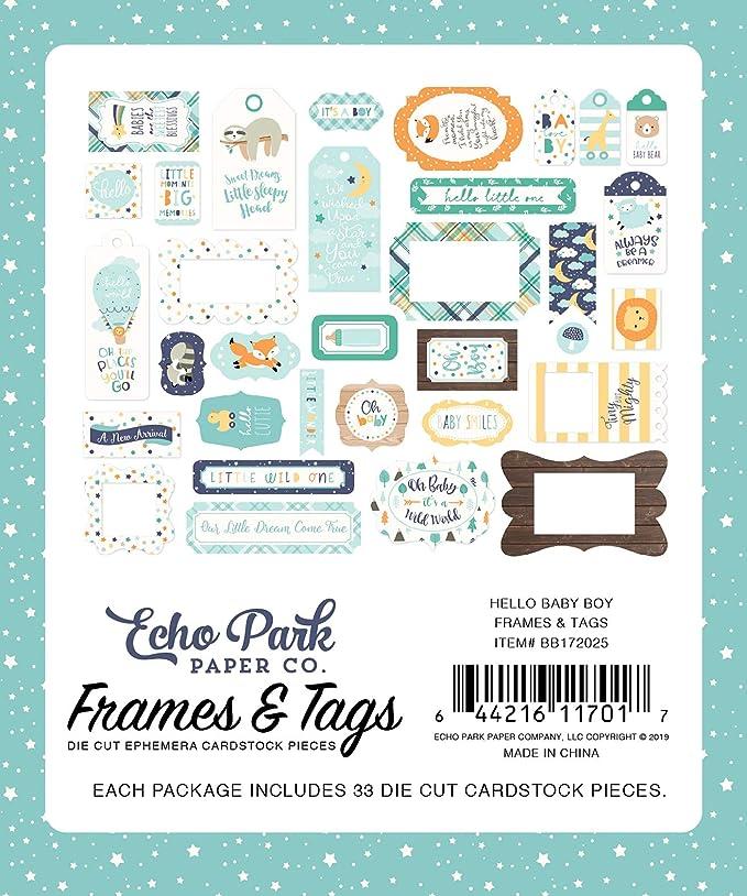 Frames /& Tags Die Cuts Ephemera Travel Cardstock Echo Park Go See Explore