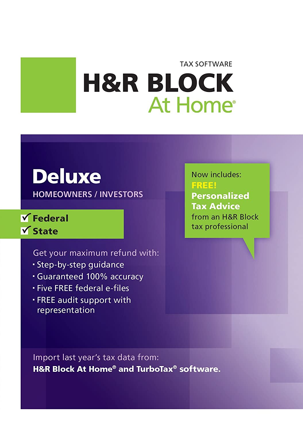 Home products technical information downloads - Amazon Com H R Block At Home Deluxe State 2012 For Mac Download Software