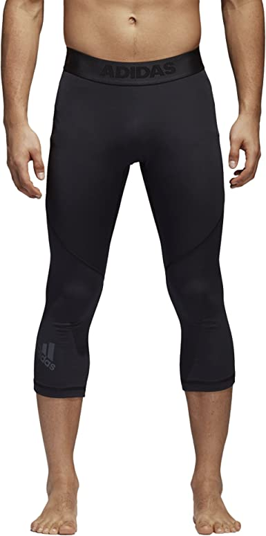 Adidas Men Alphaskin Sports 3//4 Tights Pant Training Black Shorts Pant CF7331