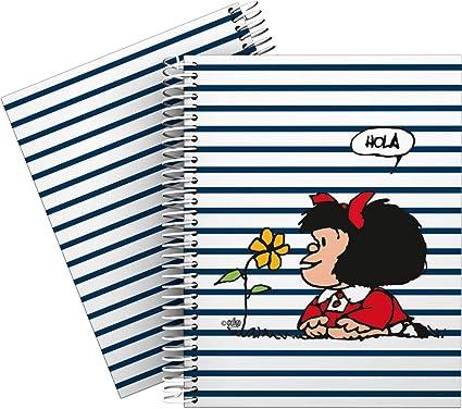 Mafalda 16512613 Colección Mafalda Cuaderno, Cuadriculado 5 mm, Modelo Marinera, A5: Amazon.es: Oficina y papelería