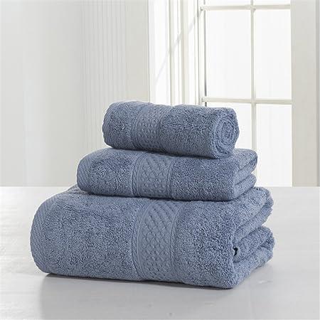Amazon.com: LKEJDNJ 3-Pieces Solid Color Cotton Towel Set Bath Towel For Adults Face Towels Hand Towel Toallas 360Gsm Grey 3 pieces set: Home & Kitchen