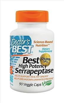 Doctor's Best 90-Caps of 120,000 SPU High Potency Serrapeptase