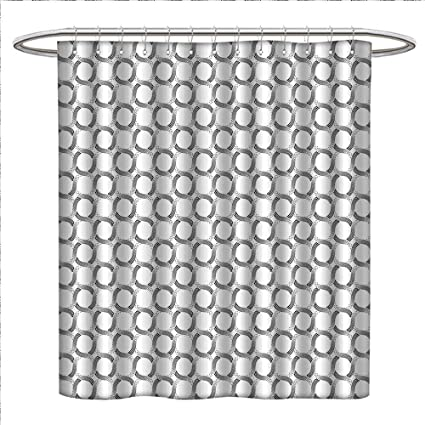 Mannwarehouse Geometric Shower Curtains Fabric Extra Long Little Dots And Spots Forming Curved Circles Minimalist Feminine