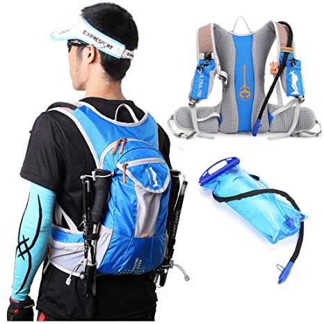 77ab2a656f ULTRA-TRI Hydration Trail Running Backpack Professional Lightweight Outdoor  Sports Water Bladder Bag Pack 12L