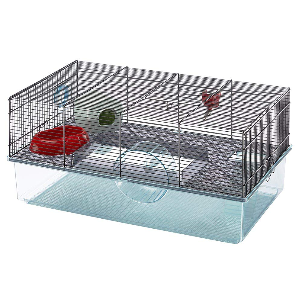 Favola Hamster Cage | Includes Free Water Bottle, Exercise Wheel, Food Dish & Hamster Hide-Out | Large Hamster Cage Measures 23.6L x 14.4W x 11.8H-Inches & Includes 1-Year Manufacturer's Warranty by Ferplast