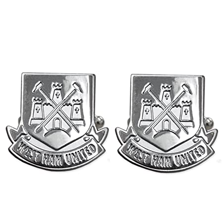 0ae4181e355 Official Football Team Chrome Cufflinks West Ham United  Amazon.co ...
