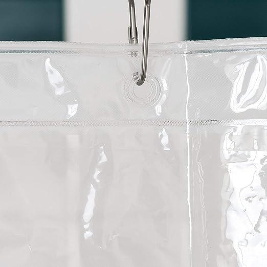 Rideau de douche Liner Heavy Duty Mildiou Resistant Bain 12 AUTO œillets pour Crochets